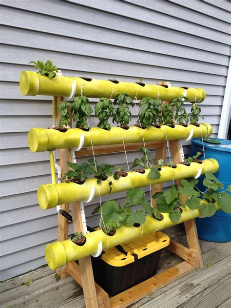 easy diy pvc hydroponics backyard system