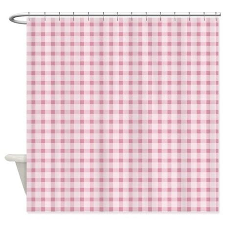 gingham shower curtain pink gingham shower curtain by be inspired by life