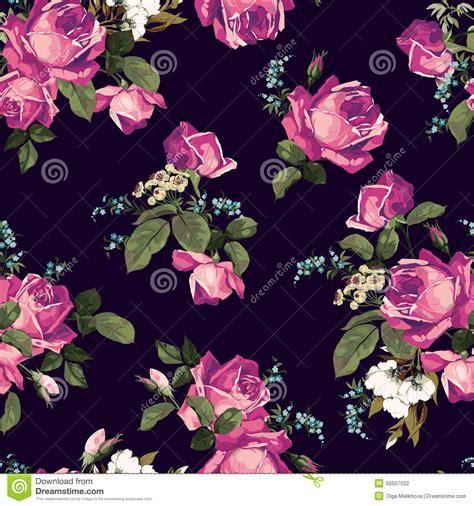 imagenes rosas dark seamless floral pattern with pink roses on dark background