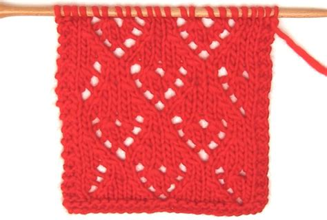 lace heart pattern knitting mini lace heart knit stitch pattern with video tutorial