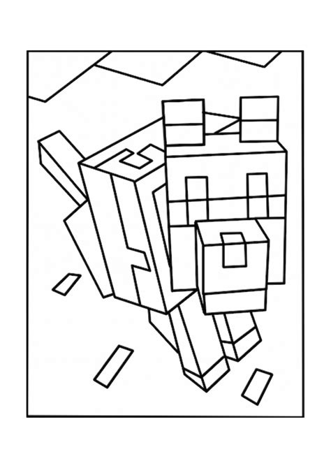 coloring pages minecraft wolf wolves minecraft coloring pages free printable minecraft