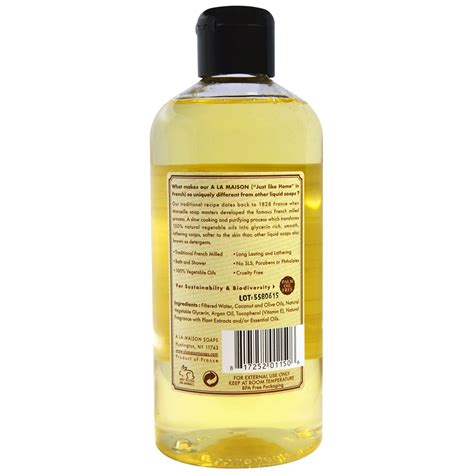 bathtub liquid soap a la maison de provence bath shower liquid soap sweet almond 16 9 fl oz 500 ml