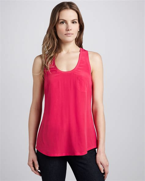 sleeveless top joie alicia sleeveless top in pink lyst