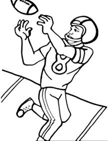 football player coloring pages free american football player coloring pages
