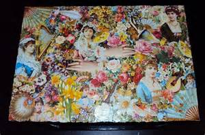 Decoupage Photo - use your spare wallpaper strips to decoupage fashion wallpaper