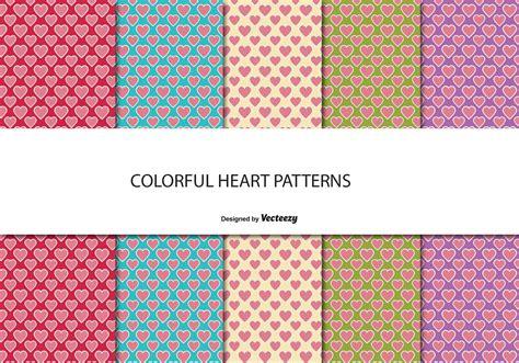 cute pattern set cute heart pattern set download free vector art stock