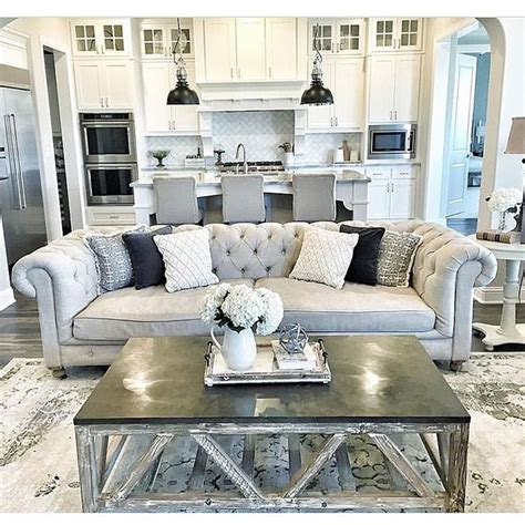 Decorating Ideas Grey Sofa Best 25 Tufted Ideas On Living Room