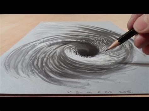 how to make 3d illusion l drawing a 3d vortex hole illusion three dimensional