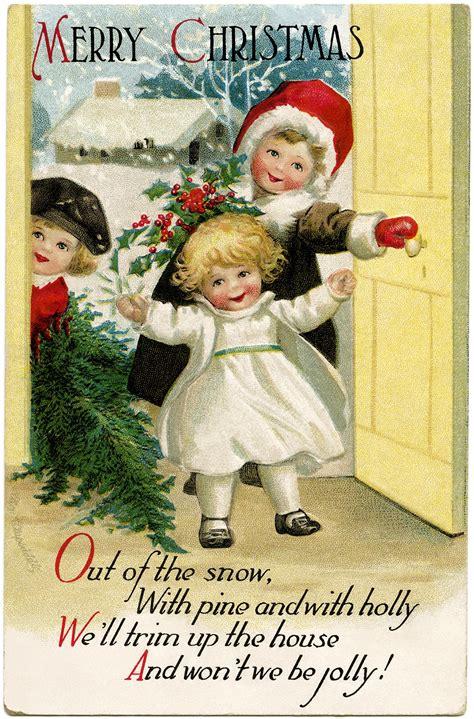 printable victorian christmas cards clapsaddle christmas children old design shop blog