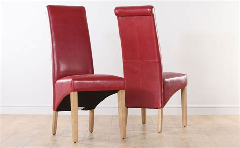Red Dining Room Chairs | red leather dining room chairs home furniture design