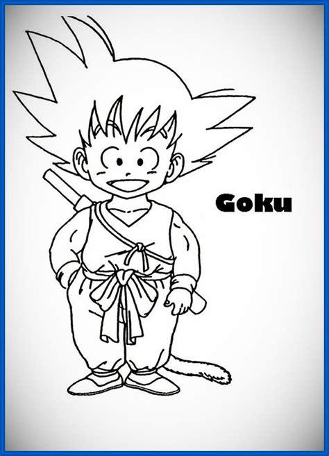 imagenes de goku alegre dibujos de goku para pintar e imprimir archivos dibujos