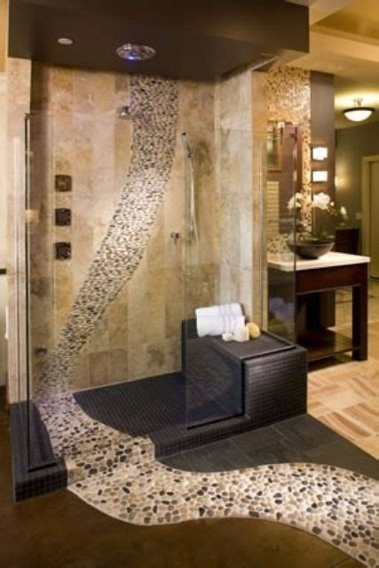 river rock bathroom ideas polished cobblestone pebble tile river pebbles pebble