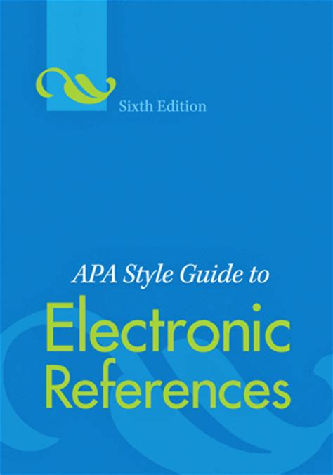 apa formatting style guide pdf apa style guide to electronic references sixth edition