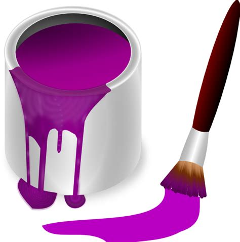 purple paint purple paint with paint brush clip art at clker com