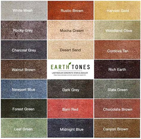 earth tones paint acid stains are limited to only a few variations of brown black and