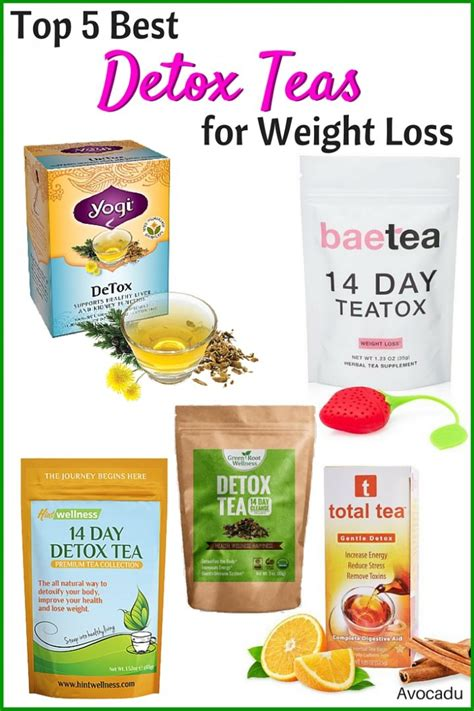 Healthiest Weight Loss Detox by 5 Best Detox Teas For Weight Loss Avocadu