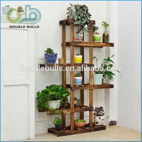 Pot Bunga Daiso custom wholesale fold 3 layers wooden indoor flower pot