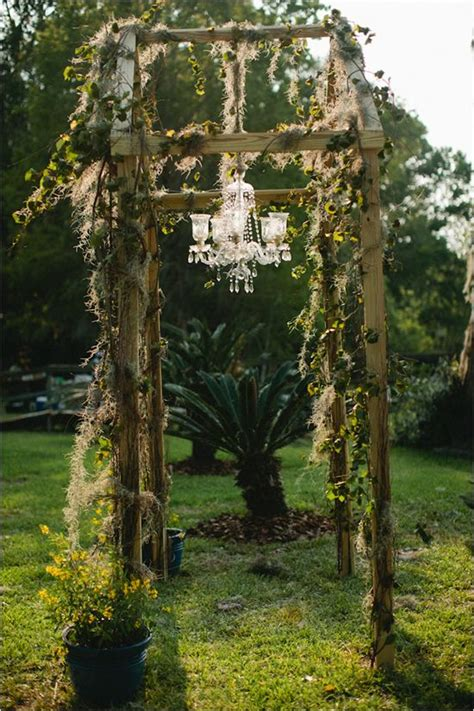 Chandelier Wedding Arch 25 Best Ideas About Rustic Wedding Arbors On Pinterest Outdoor Wedding Alters Outdoor