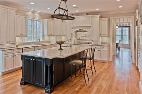 white kitchen black island how to finishing antique white kitchen cabinets home