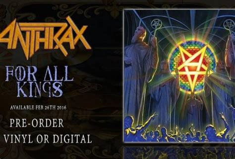 Anthrax Return anthrax the classic thrash band returns with for all