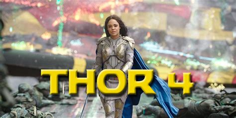 thor movie franchise valkyrie should lead the thor franchise in mcu phase 4