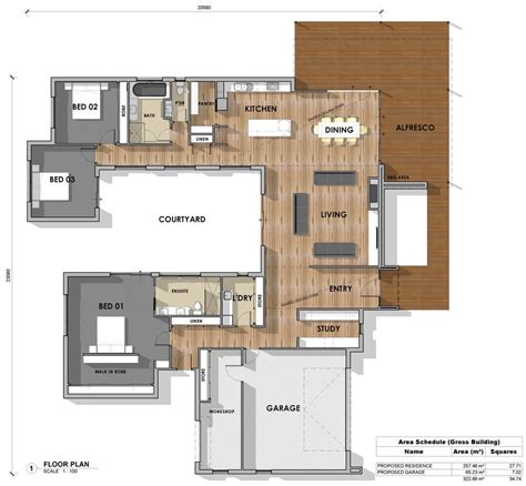 u shaped home plans floor plan friday 3 bedroom study u shape katrina