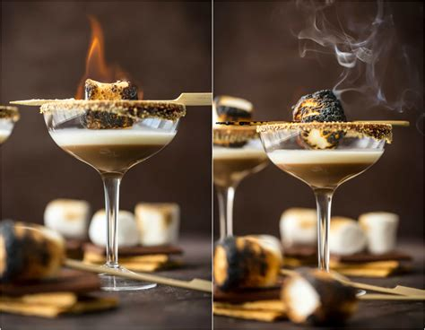 martini smore toasted s mores martini with marshmallow vodka the