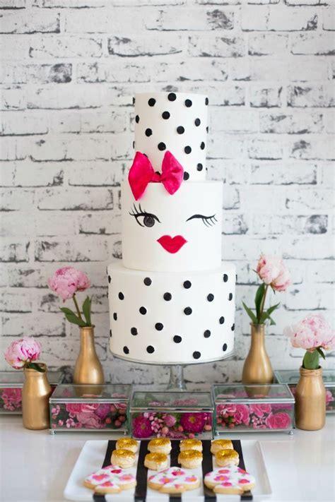 Blus Polka Nevada Pastel We12116 bridal shower pink with black polka dots cake diy