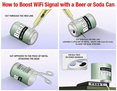 how to boost a wifi signal with a soda or can diy