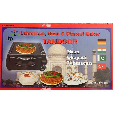 Oven Roti Mini tandoor lahmacun naan and chapati maker