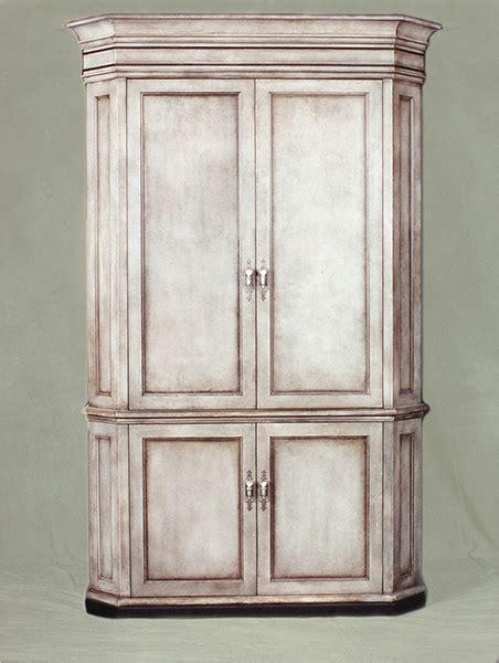 tall corner media cabinet tall corner tv cabinet by mitchel berman san francisco