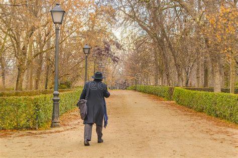 beautiful autumn day walking  retiro park  madrid