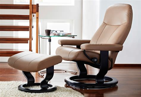 reclining back chair with ottoman stressless garda recliner chair and ottoman by ekornes