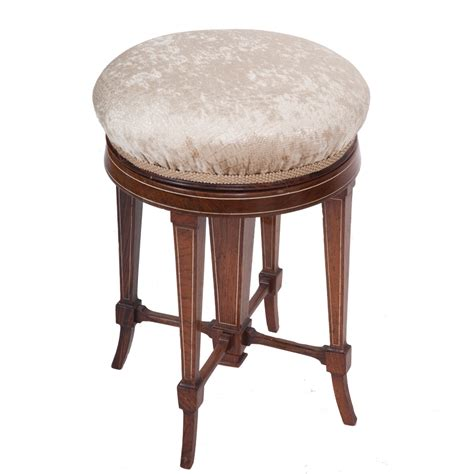 Piano Stools by Adjustable Shoolbred Antique Piano Stool