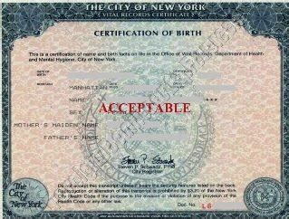 Bronx Birth Records Nyc Birth Certificates For Foreign Use