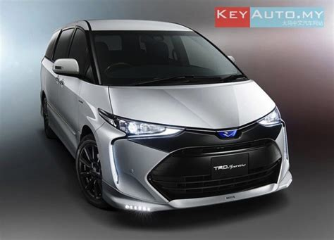 toyota estima 2016 2016 toyota estima 新装亮相 trd 与 modellista 改装套件同步发表 keyauto my