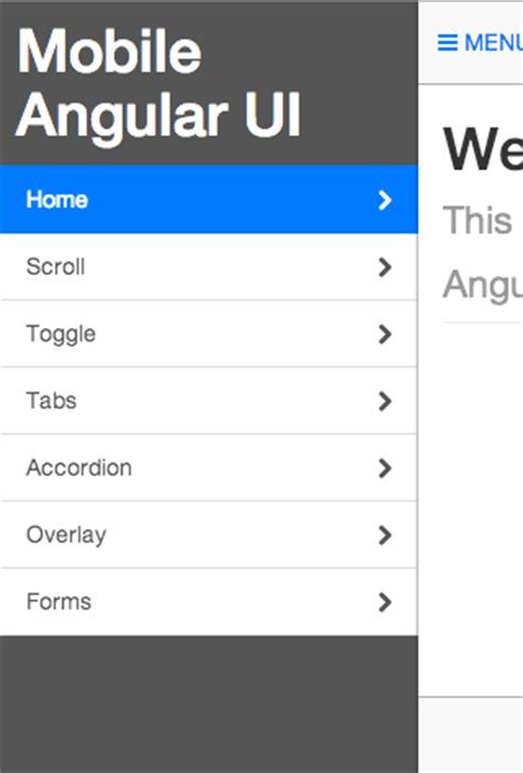 angular ui layout tutorial mobile angular ui angular js mobile ui framework with