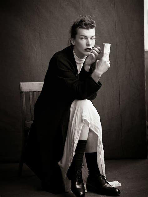 styles of katharine hepburn milla jovovich as katharine hepburn for l express style
