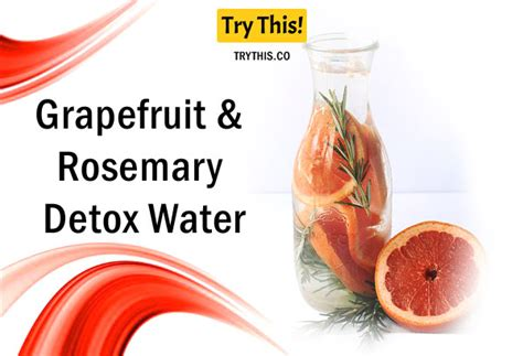 Grapefruit And Rosemary Detox by Detox Water Top 50 Fruit Infused Water Recipes Health
