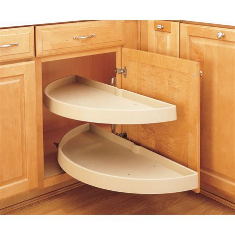Lazy Susan Organizer For Kitchen Cabinets Shop Rev A Shelf 2 Tier Plastic Half Moon Cabinet Lazy Susan At Lowes