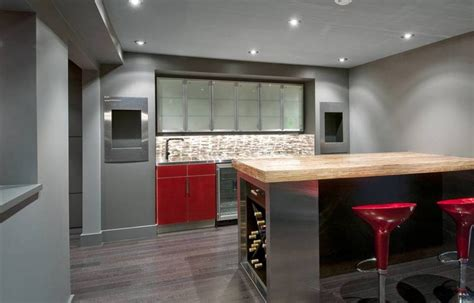 bar home design modern basement bar ideas with black and white theme