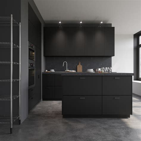 Kitchen Designs With Black Cabinets kungsbacka ikea model turbosquid 1161924