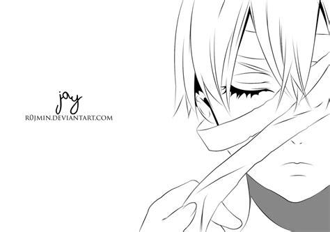 theme line black butler ciel phantomhive kuroshitsuji lineart by r0jmin on