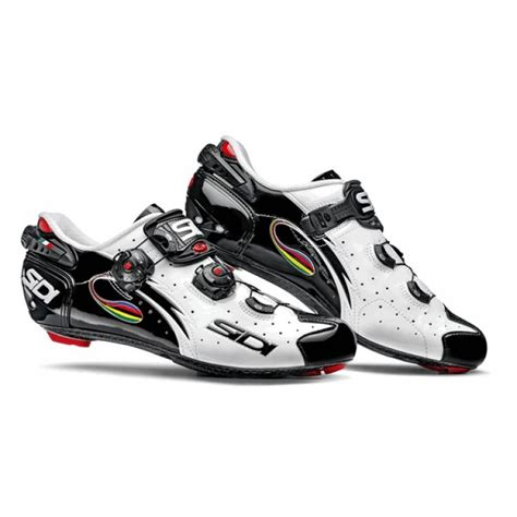 sidi biking shoes sidi wire carbon vernice white black iride cycling shoes