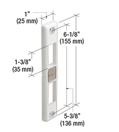 Milgard Patio Door Parts Lock Keeper For Milgard Patio Doors