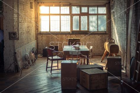 pictures stock retro office space with books furniture