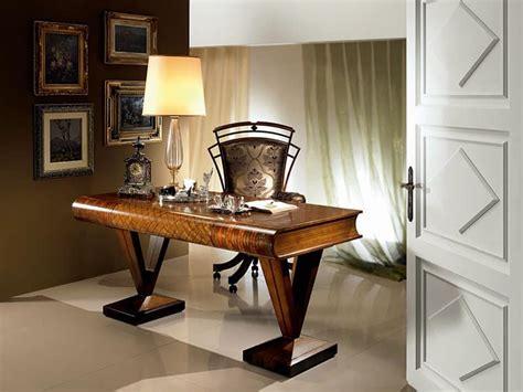 sc zc home studio design srl wooden desk flat shaped book classic style idfdesign