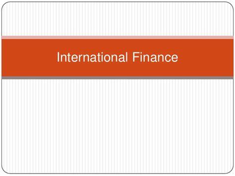 Mba Finance Overseas by International Finance