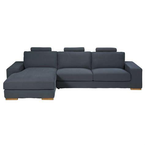 divano 5 posti divano ad angolo sinistro 5 posti grigio scuro in tessuto