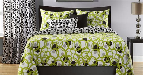 green and white bedding total fab lime green black and white bedding